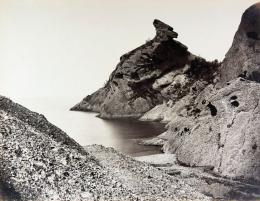 Édouard Baldus: Le Moine, La Ciotat. Albuminabzug, aus dem Album: Chemins de fer de Paris à Lyon et à la Méditerranée, 1861–1863