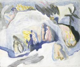 Kurt Kocherscheidt, Makart in seinem Atelier, 1967 Öl auf Leinwand, 96 x 115 cm, Inv.-Nr. 0073 © Museum Liaunig / Nachlass Kurt Kocherscheidt