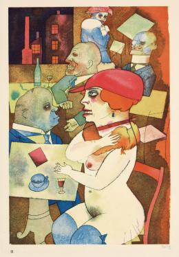 George Grosz, Schönheit, dich will ich preisen, Bl. 3 der Mappe ›Ecce homo‹, 1920, Karton, Offset, Stiftung Deutsches Historisches Museum, Berlin © VG Bild-Kunst, Bonn 2019