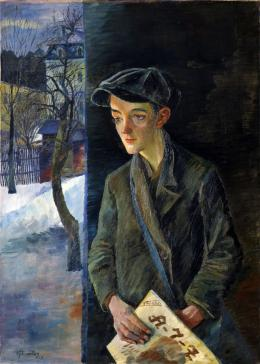 Conrad Felixmüller, Zeitungsjunge, 1928, Öl auf Leinwand, Lindenau-Museum Altenburg © VG Bild-Kunst, Bonn 2019