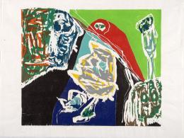 Asger Jorn: Ausgeschnittene Holzwege, 1970; Aus der Serie Ohne Titel, 1970. Farbholzschnitt; Museum Jorn, Silkeborg. © Donation Jorn, Silkeborg / Bildrecht, Wien, 2019