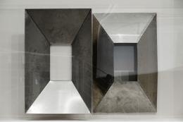 Thea Djordjadze *1971 Space under (Detail), 2016 Plexiglass, metal, paint, wood 210,2 x 840,8 x 47 cm © 2019, ProLitteris, Zurich On view in Projects 103: Thea Djordjadze at MoMA PS1, New York April 3-August 28, 2016. Image Courtesy MoMA PS1 Photo: Pablo Enriquez