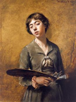 Sabine Lepsius, Selbstbildnis, 1885, © Staatliche Museen zu Berlin, Nationalgalerie / Jörg P. Anders