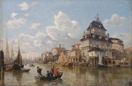 Valentin Ruths (1825 – 1905): Das Baumhaus am Hamburger Hafen, 1850. Öl auf Leinwand auf Pappe, 49,4 x 75 cm; © Hamburger Kunsthalle / bpk Foto: Elke Walford