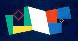 Camille Graeser, Konstruktion mit zwei Zentren (Zwei dezentralisierte Dominanten - Dezentralisierte Quadrate), 1944. © Camille Graeser Stiftung; © 2019, ProLitteris, Zurich