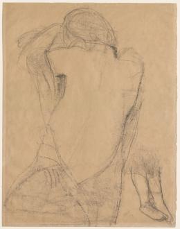 Jussuf Abbo, Weiblicher Rückenakt, 1918. Sprengel Museum Hannover; (c)  Angela Abbo, Brighton