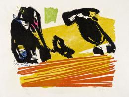 Asger Jorn: Ursprung der Familie, 1970; Aus der Serie Ohne Titel, 1970. Farbholzschnitt; Museum Jorn, Silkeborg. © Donation Jorn, Silkeborg / Bildrecht, Wien, 2019