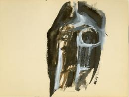 No title, 1960 Gouache and ink on paper 12 × 9 in., 30.5 × 22.9 cm Allen Memorial Art Museum, Oberlin College, Oberlin, OH. Anonymous Gift to the Eva Hesse Archives, 1982.105.19 © The Estate of Eva Hesse. Courtesy Hauser & Wirth