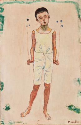 Ferdinand Hodler: Bezauberter Knabe, 1905. Öl auf Leinwand, 50 x 32 cm; Kunstmuseum Luzern, Schenkung Monika Widmer