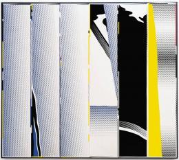 """Roy Lichtenstein, """"Mirror in Six Panels"""", 1970, Öl, Magna auf Leinwand, 243.8 x 274.3 cm, mumok - Museum moderner Kunst Stiftung Ludwig Wien, Leihgabe der Österreichischen Ludwig-Stiftung, seit 1991 © Estate of Roy Lichtentstein/Bildrecht, Wien 2020"""
