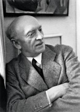 Emil Nolde in München, Januar/Februar 1937. Foto von Helga Fietz, der Ehefrau von Noldes Münchner Kunsthändler Günther Franke; Nolde Stiftung Seebüll. © Nolde Stiftung Seebüll