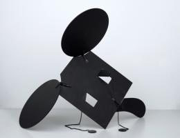 "Claes Oldenburg, ""Geometric Mouse-Scale C"", 1971, Aluminiumblech, 62,5 x 52 x 0,5 cm, mumok - Museum moderner Kunst Stiftung Ludwig Wien, erworben 1976 © Claes Oldenburg"