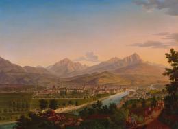 Grois, Josef Ansicht Innsbrucks von der Weiherburg Richtung Südwesten, um 1830 Öl auf Leinwand TLM, Ältere Kunstgeschichtliche Sammlungen Inv.-Nr. Gem/1036  © TLM