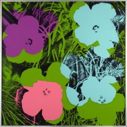 """Andy Warhol, """"Flowers"""", 1970, 10 Siebdrucke auf Papier je 91.5 x 91.5 cm, mumok - Museum moderner Kunst Stiftung Ludwig Wien, Leihgabe der Österreichischen Ludwig-Stiftung seit 1980 © The Andy Warhol Foundation for the Visual Arts, New York/Licensed by Bildrecht, Wien 2020"""
