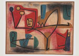 Paul Klee: Uebermut, 1939, 1251. Öl- und Kleisterfarbe auf Papier auf Jute; originale Rahmenleisten, 101 x 130 cm. Zentrum Paul Klee, Bern