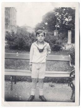 Erich Fried im Alter von ca. fünf Jahren ©  Foto: Privatarchiv Boswell