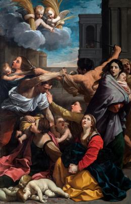 Guido Reni (Calvenzano 1575–1642 Bologna), Bethlehemitischer Kindermord, 1611, Leinwand, 268 × 170 cm, Bologna, Pinacoteca Nazionale © Polo Museale dell'Emilia-Romagna