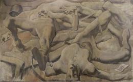 Albin Egger-Lienz, Finale, 1918; 140 x 227 cm, Öl auf Leinwand  © Leopold Privatsammlung