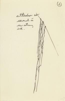 No title, 1969 Ink on paper 8 ⅞ × 5 ⅞ in., 22.5 × 14.9 cm Allen Memorial Art Museum, Oberlin College, Oberlin, OH. Gift of Helen Hesse Charash, 1977.52.76.50 © The Estate of Eva Hesse. Courtesy Hauser & Wirth