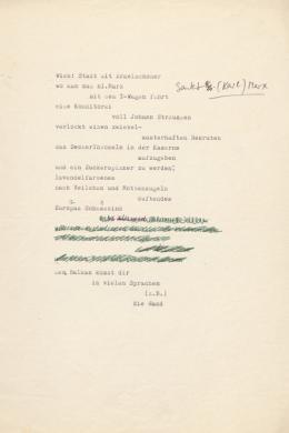 """Elfriede Gerstl: """"Wien. Stadt mit Ärmelschoner"""", o. D. – © Österreichische Nationalbibliothek"""