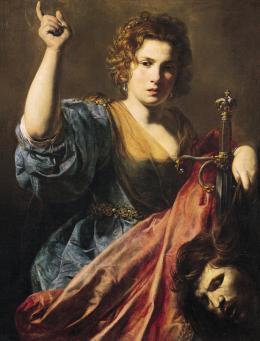 Valentin de Boulogne (1591 – 1632): Judith mit dem Kopf des Holofernes, ca. 1625/28. Leinwand, 97 x 74 cm; Musée des Augustins, Toulouse. © Musée des Augustins, Toulouse, photo: Daniel Martin