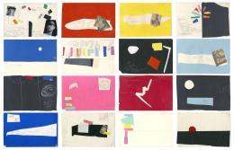 Le Corbusier, Studien für das Poème électronique, zweites Szenario, Mai 1957, schwarzer und weisser Stift, zugeschnittene Farbpapiere und Fotografien, © Fondation Le Corbusier, Paris
