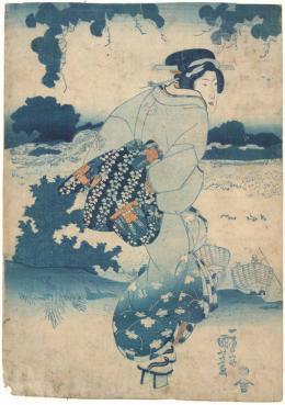 Utagawa Kuniyoshi, Modischer Geschmack der heutigen Zeit, 1830–1840 © MAK/Georg Mayer