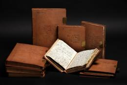 Reisetagebücher von Alexander von Humboldt. 4.000 Seiten in Leder eingefasst, Datierung: 1799-1804; © bpk / Staatsbibliothek zu Berlin / Carola Seifert