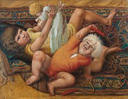 Otto Dix, Spielende Kinder, 1929; 72,2 x 93,3 cm, Öl und Tempera auf Holz  © Kunstmuseum Stuttgart, Foto: Kunstmuseum Stuttgart © Bildrecht Wien, 2019