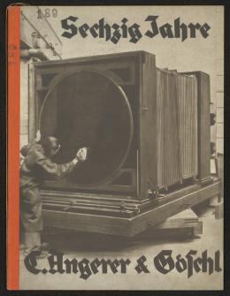 Bucheinband zu Sechzig Jahre, C. Angerer & Göschl Wien