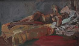"Robert Wehrlin, ""Liegender Akt"", 1937, Öl auf Karton, 48 x 78 cm, Kunstmuseum Thurgau"