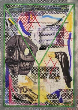 Thomas Baldyschwyler, Titel: rgbrgb 35 Acryl, Silikon, PU- und UV-Lack auf Leinwand (in einer Acrylglasschattenfuge) 104 x 144cm, 2020 Courtesy of Galerie Conradi, Hamburg / Brüssel Foto: Michael Nagl