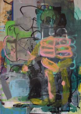Lipp & Leuthold, Heliumshit, 2018. Acryl auf Leinwand, 280 x 200 cm; Courtesy of the artist