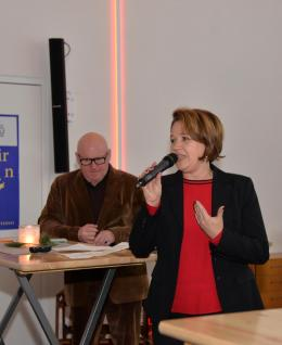 Dornbirns Bürgermeisterin Andrea Kaufmann und Kulturamtsleiter Roland Jörg (Bild: zVg)