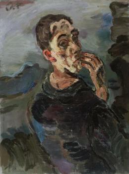 Oskar Kokoschka, Selbstbildnis, eine Hand ans Gesicht gelegt, 1918/19, Leopold Museum, Wien, Inv. 623 © Leopold Museum, Wien / Fondation Oskar Kokoschka/VBK, Wien 2013
