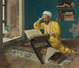 Osman Hamdi Bey, Über den Koran meditierend, 1902  © Foto: Johannes Stoll / Belvedere, Wien