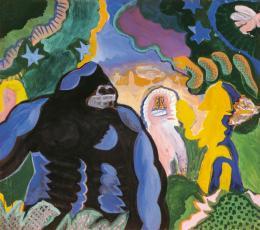 Kurt Kocherscheidt, Konga, 1968 Acryl auf Leinwand, 155 x 175 cm, Inv.-Nr. 3130 © Museum Liaunig / Nachlass Kurt Kocherscheidt
