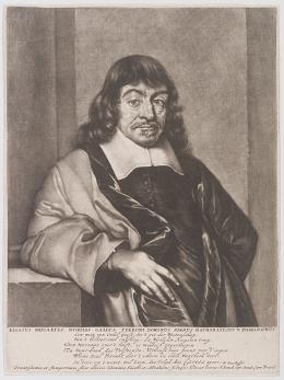 Peter Schenck: Renatus Descartes, spätes 17. Jh./frühes 18. Jh. Mezzotinto; Von der Heydt-Museum Wuppertal