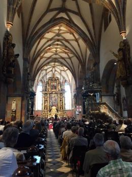 Das gotische Mittelschiff des Benediktinerstiftes in Millstatt (Foto: MPS)