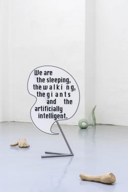 """Barbara Kapusta, """"The Giant"""", 2018, Ausstellungsansicht Gianni Manhattan, 2018 © Foto: Simon Veres Courtesy Gianni Manhattan und Barbara Kapusta"""