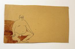 Peter Wehinger, Aus der Serie 'Männer', Zeichnung, Tusche u. Aquarell auf Papier © Peter Wehinger