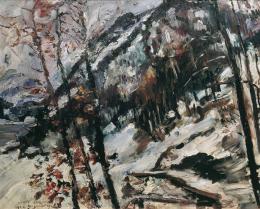 Lovis Corinth, Der Herzogstand am Walchensee im Schnee, 1922  © Belvedere, Wien