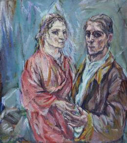 Oskar Kokoschka, Doppelbildnis Oskar Kokoschka und Alma Mahler, 1912/13 © Museum Folkwang, Essen Foto: Museum Folkwang Essen/Artothek, © Fondation Oskar Kokoschka/ Bildrecht, Wien, 2018