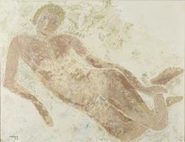 """Helen Dahm, """"Frauenakt"""", 1933, Abklatsch auf Papier, 75 x 94 cm, Kunstmuseum Thurgau"""