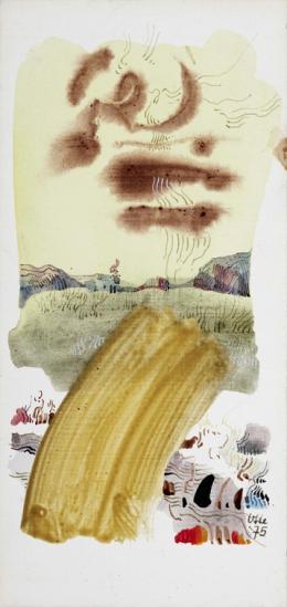 Ohne Titel, 1975, Acryl auf Karton, Salzburg Museum © Hanns und Werner Otte, Salzburg