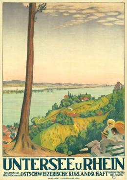 Emil Cardinaux , Untersee u. Rhein – Ostschweizerische Kulturlandschaft, 1919, Foto: Bern, Staatsarchiv des Kantons Bern / Berner Designstiftung, P 921