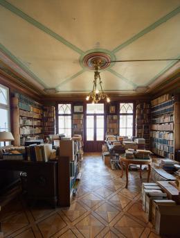 Das Arbeitszimmer des Gelehrten. Foto: Simon Schmid © Schweizerische Nationalbibliothek
