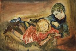 Oskar Kokoschka, Spielende Kinder, 1909 © Lehmbruck Museum, Duisburg Foto: Lehmbruck Museum, Duisburg, Foto: Bernd Kirtz © Fondation Oskar Kokoschka/Bildrecht, Wien, 2018