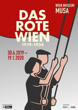 Ausstellungsplakat, Das Rote Wien  Design: Olaf Osten © Wien Museum