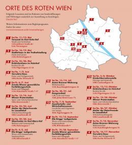 Orte des Roten Wien  © Wien Museum